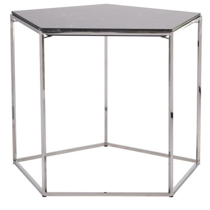 Кофейный столик Stone из мрамора и металла