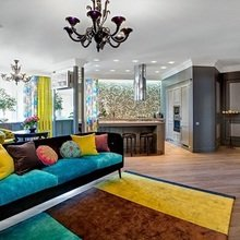 Фотография: Гостиная в стиле Эклектика, Квартира, Дома и квартиры, Киев – фото на InMyRoom.ru
