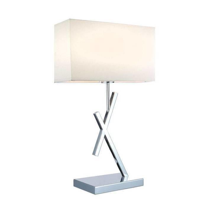 Настольная лампа Omnilux с белым абажуром
