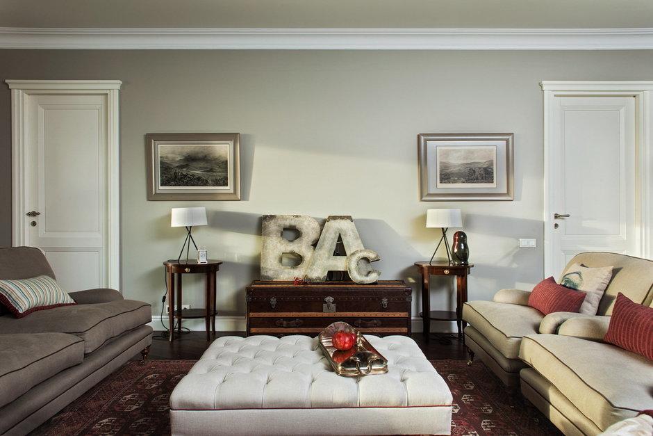 Фотография: Гостиная в стиле Современный, Эклектика, Квартира, Дома и квартиры – фото на InMyRoom.ru
