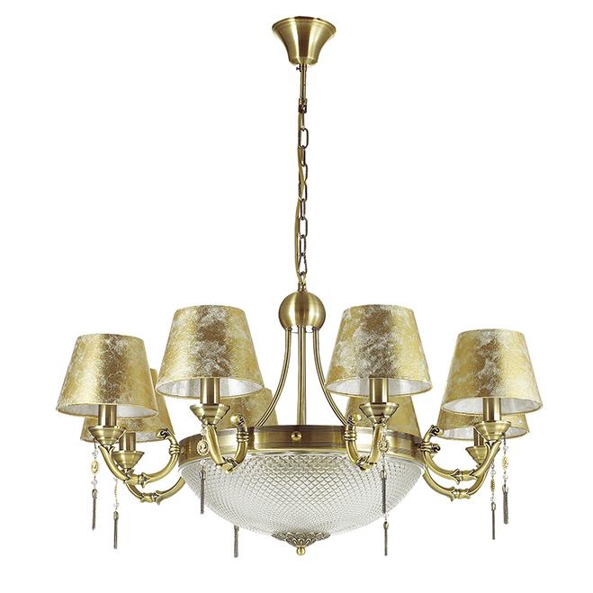 Подвесная люстра Odeon Light Flavia с бронзовыми абажурами