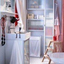 Фотография: Ванная в стиле Скандинавский, Современный, Интерьер комнат, Советы, IKEA, Зеркала – фото на InMyRoom.ru