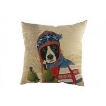 Подушка с принтом Ski Dogs Border Collie