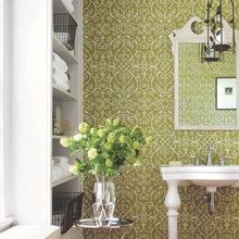 Фотография: Ванная в стиле Восточный, Декор интерьера, Декор дома, Обои – фото на InMyRoom.ru
