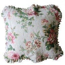 Подушка с рюшей Жухлые розы