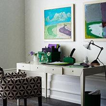 Фотография: Кабинет в стиле Скандинавский, Декор интерьера, DIY, Цвет в интерьере – фото на InMyRoom.ru