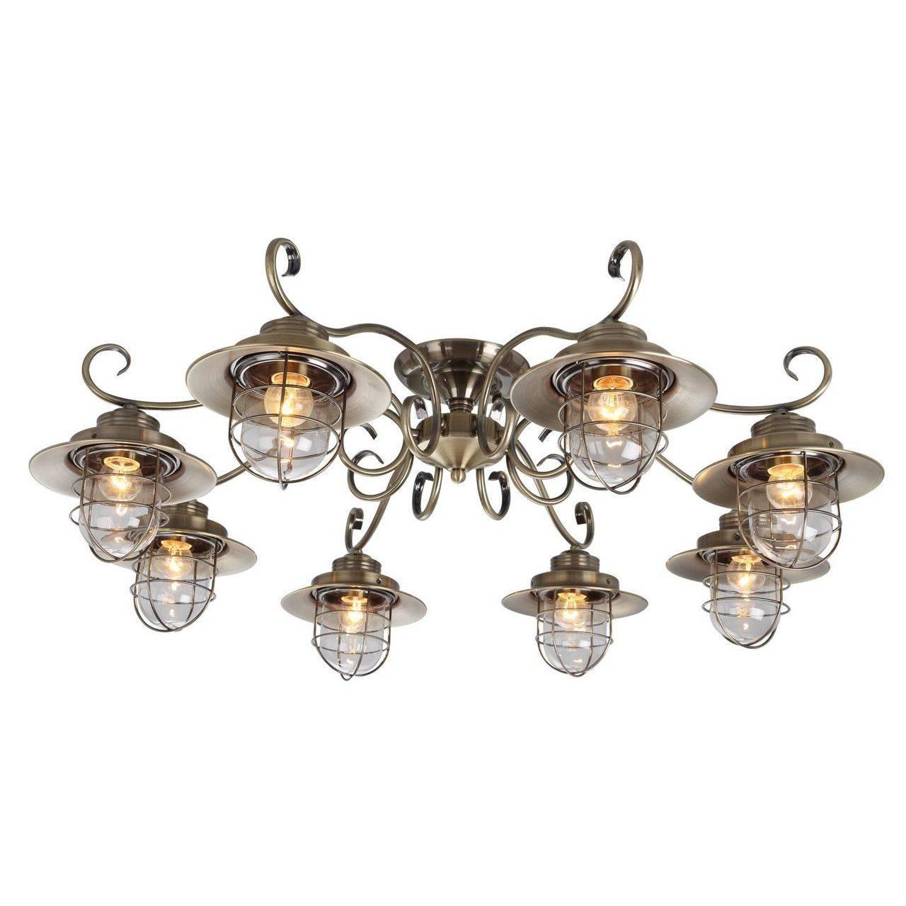 Купить со скидкой Потолочная люстра из металла и стекла  Arte Lamp