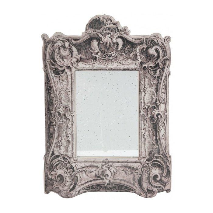 Настенное Зеркало с рисунком под состаренное дерево