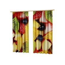 Шторы с фотопечатью для кухни: Микс из фруктов