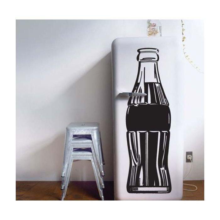 Виниловая наклейка полный холодильник кока колы