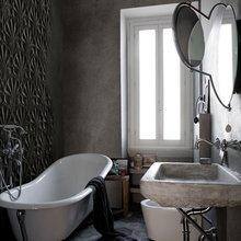 Фотография: Ванная в стиле Кантри, Современный, Карта покупок, Индустрия, Фотообои – фото на InMyRoom.ru