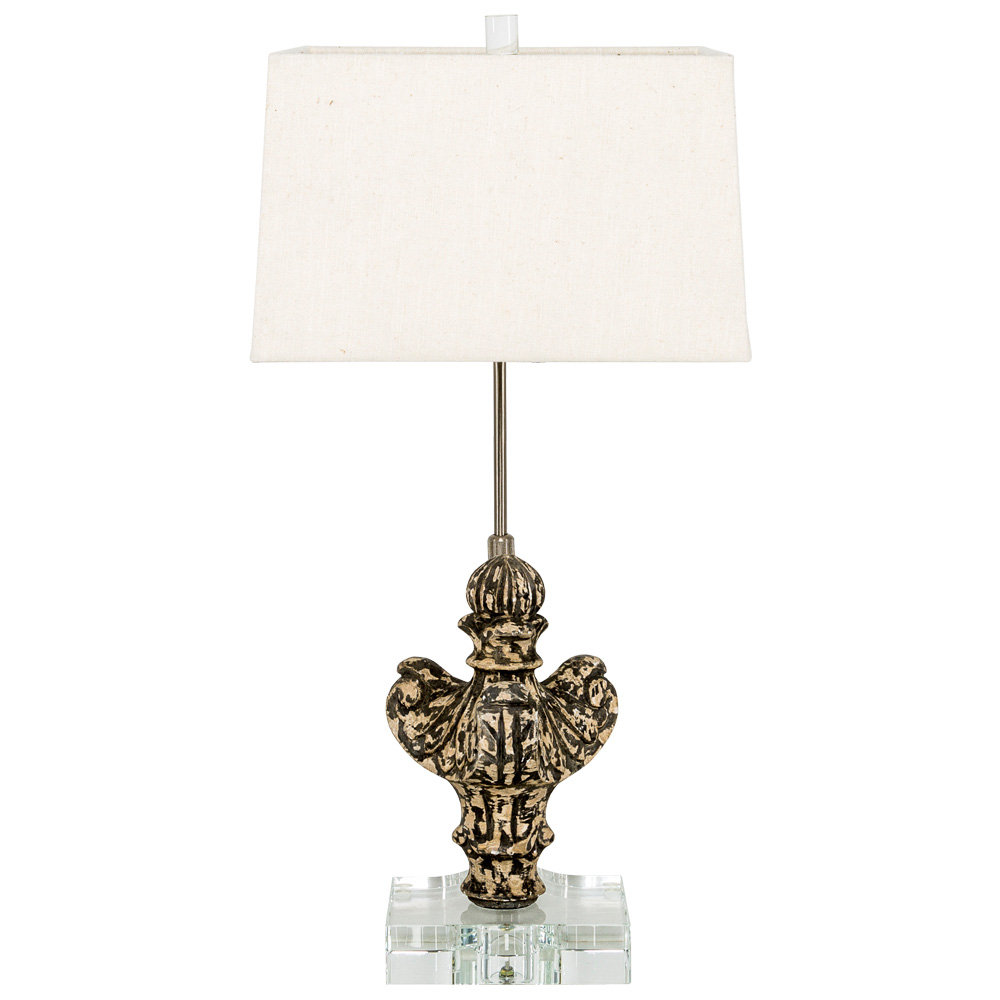 Купить Настольная лампа гамма с белым абажуром, inmyroom, Россия