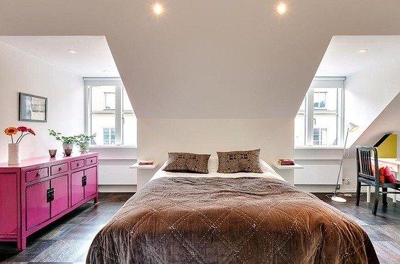 Фотография: Спальня в стиле Прованс и Кантри, Восточный, Декор интерьера, Квартира, Дома и квартиры, Пентхаус, Стокгольм, Мансарда – фото на InMyRoom.ru