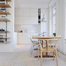 Фотография: Кухня и столовая в стиле Минимализм, Малогабаритная квартира, Квартира, Мебель и свет, Дома и квартиры, Стокгольм – фото на InMyRoom.ru
