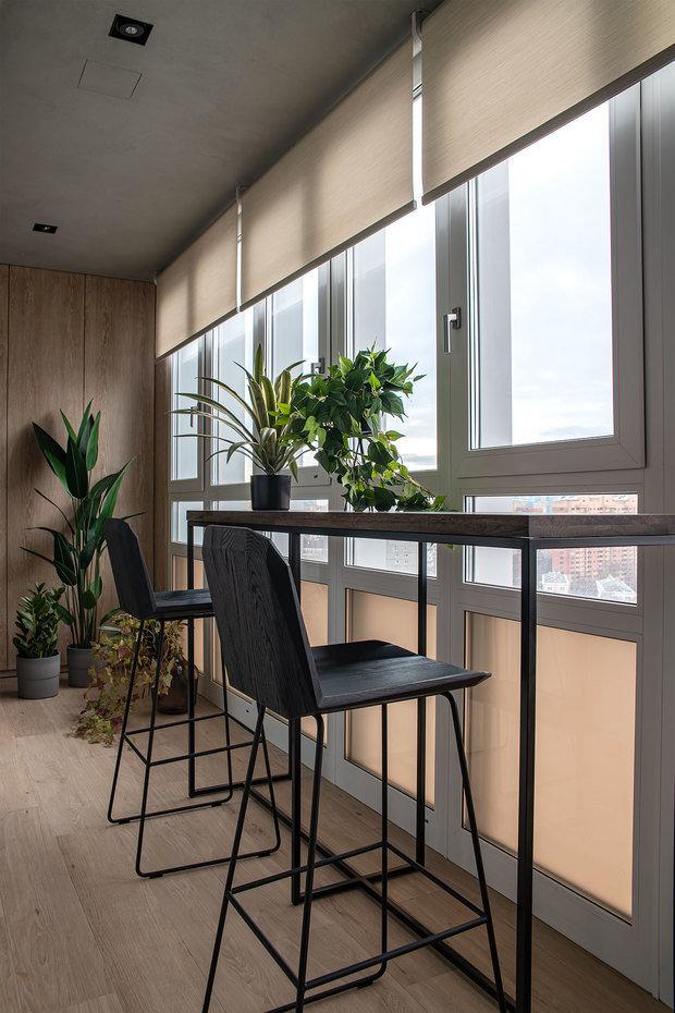 Фотография: Балкон в стиле Современный, Квартира, Проект недели, Москва, 3 комнаты, Более 90 метров, Наталья Широкова – фото на INMYROOM
