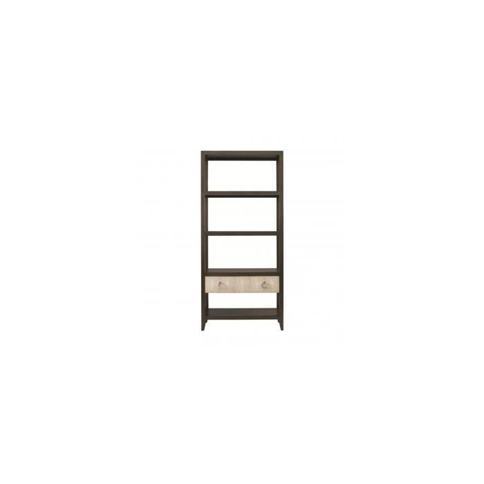Стеллаж GREGORY BOOKCASE WITH DRAWER - BROWN