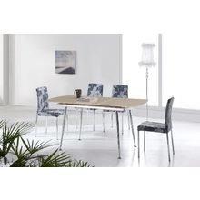 Стол обеденный раздвижной со столешницей из закаленного стекла