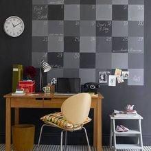 Фотография: Кабинет в стиле Скандинавский, Декор интерьера, DIY, Декор, грифельная краска, графитовая краска, краска для школьных досок в интерьере, грифельная краска с эффектом школьной доски – фото на InMyRoom.ru