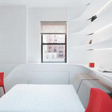 Фотография: Спальня в стиле Минимализм, Малогабаритная квартира, Квартира, Дома и квартиры – фото на InMyRoom.ru
