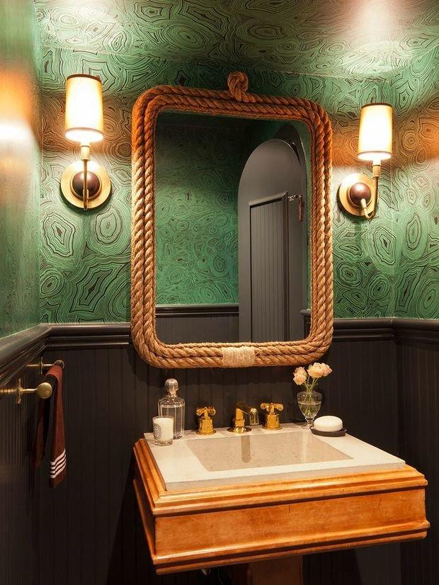 Фотография: Ванная в стиле Восточный, Декор интерьера, Дизайн интерьера, Цвет в интерьере – фото на InMyRoom.ru