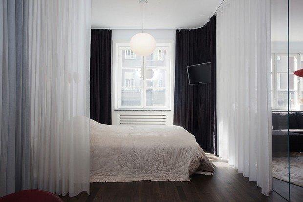 Фотография: Спальня в стиле Современный, Малогабаритная квартира, Квартира, Дома и квартиры, Проект недели – фото на InMyRoom.ru