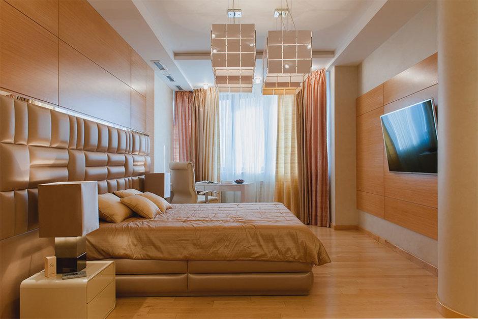 Фотография: Спальня в стиле Современный, Хай-тек, Квартира, Дома и квартиры, Москва – фото на InMyRoom.ru