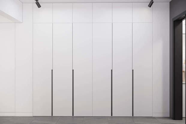 Фотография: Прихожая в стиле Минимализм, Квартира, Проект недели, Geometrium, Более 90 метров, Kronospan – фото на INMYROOM