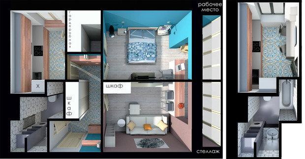 Фотография: Спальня в стиле Эклектика, Квартира, Планировки, Перепланировка, перепланировка двухкомнатной квартиры, двушка, ЖК ART, ИП-46с, перепланировка двушки, идеи для двухкомнатной квартиры, П-3/16, II-18/9, И-522А, II-02, II-68-03, И-1724, Сталинка, Панельный дом, Хрущевка, Кирпичный дом, Монолитный дом, Блочный дом – фото на InMyRoom.ru