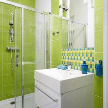 Фотография: Ванная в стиле Современный, Квартира, Цвет в интерьере, Дома и квартиры, Белый – фото на InMyRoom.ru