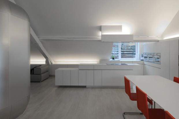 Фотография: Кухня и столовая в стиле Современный, Лофт, Квартира, Дома и квартиры, Футуризм – фото на InMyRoom.ru