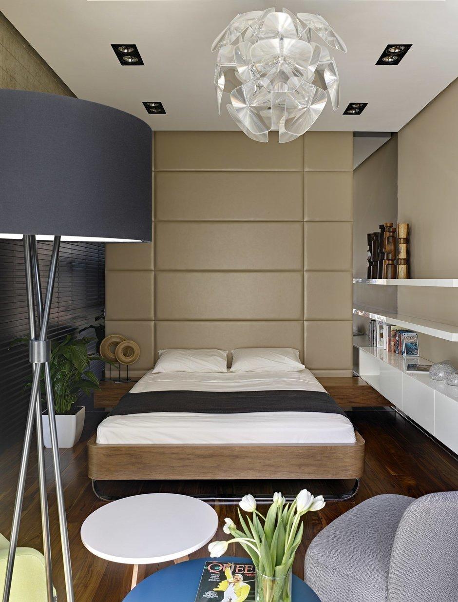 Фотография: Спальня в стиле Современный, Эко, Малогабаритная квартира, Квартира – фото на InMyRoom.ru
