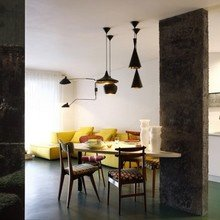 Фотография: Кухня и столовая в стиле Лофт, Малогабаритная квартира, Квартира, Франция, Терраса, Дома и квартиры, Сад, Пол – фото на InMyRoom.ru