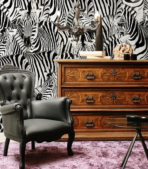 Фотография: Мебель и свет в стиле Эклектика, Декор интерьера, Декор дома, Обои, Стены – фото на INMYROOM