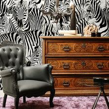 Фотография: Мебель и свет в стиле Эклектика, Декор интерьера, Декор дома, Обои, Стены – фото на InMyRoom.ru