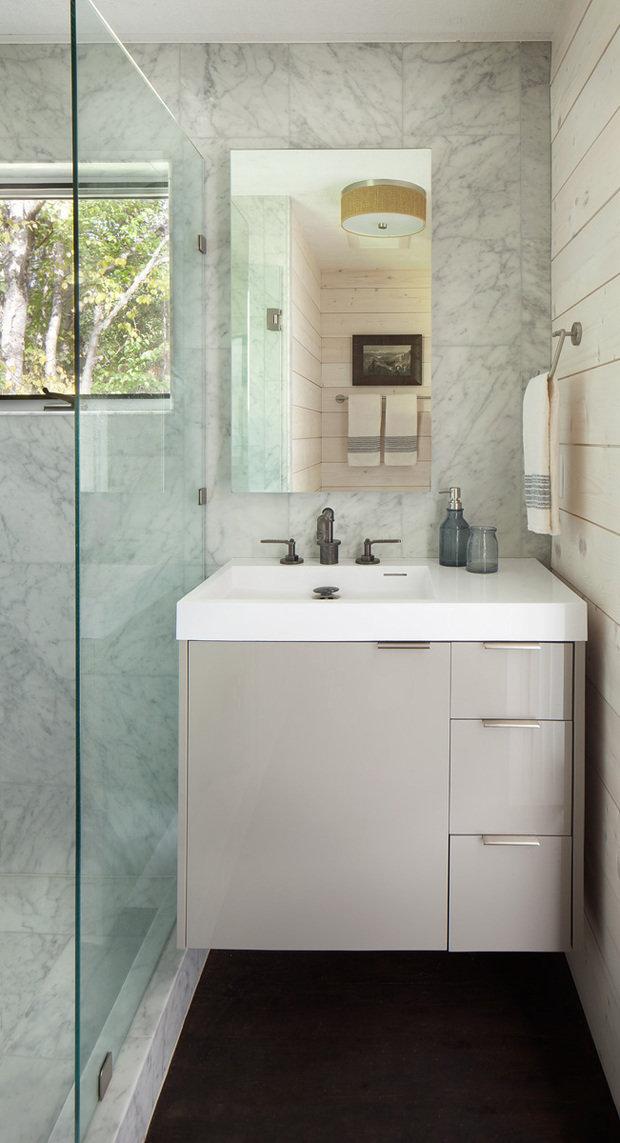 Фотография: Ванная в стиле Современный, Декор интерьера, Дом, США, Дача, Коричневый – фото на InMyRoom.ru