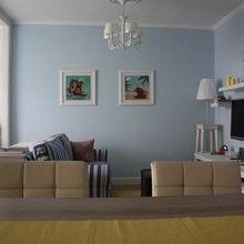 Фотография: Гостиная в стиле , Малогабаритная квартира, Квартира, Дома и квартиры, Мебель-трансформер – фото на InMyRoom.ru