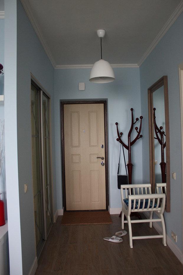 Фотография: Прихожая в стиле Современный, Малогабаритная квартира, Квартира, Дома и квартиры, Ремонт – фото на InMyRoom.ru