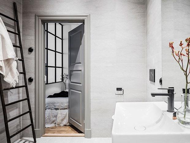 Фотография: Ванная в стиле Скандинавский, Малогабаритная квартира, Квартира, Студия, Швеция, до 40 метров – фото на InMyRoom.ru