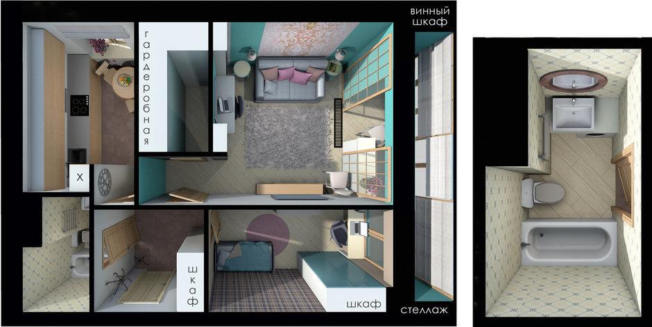 Фотография:  в стиле , Квартира, Россия, Перепланировка, Москва, II-68-03, Блочный дом – фото на InMyRoom.ru