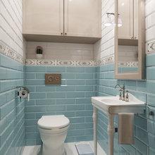 Фотография: Ванная в стиле Кантри, Квартира, Дома и квартиры, Проект недели – фото на InMyRoom.ru