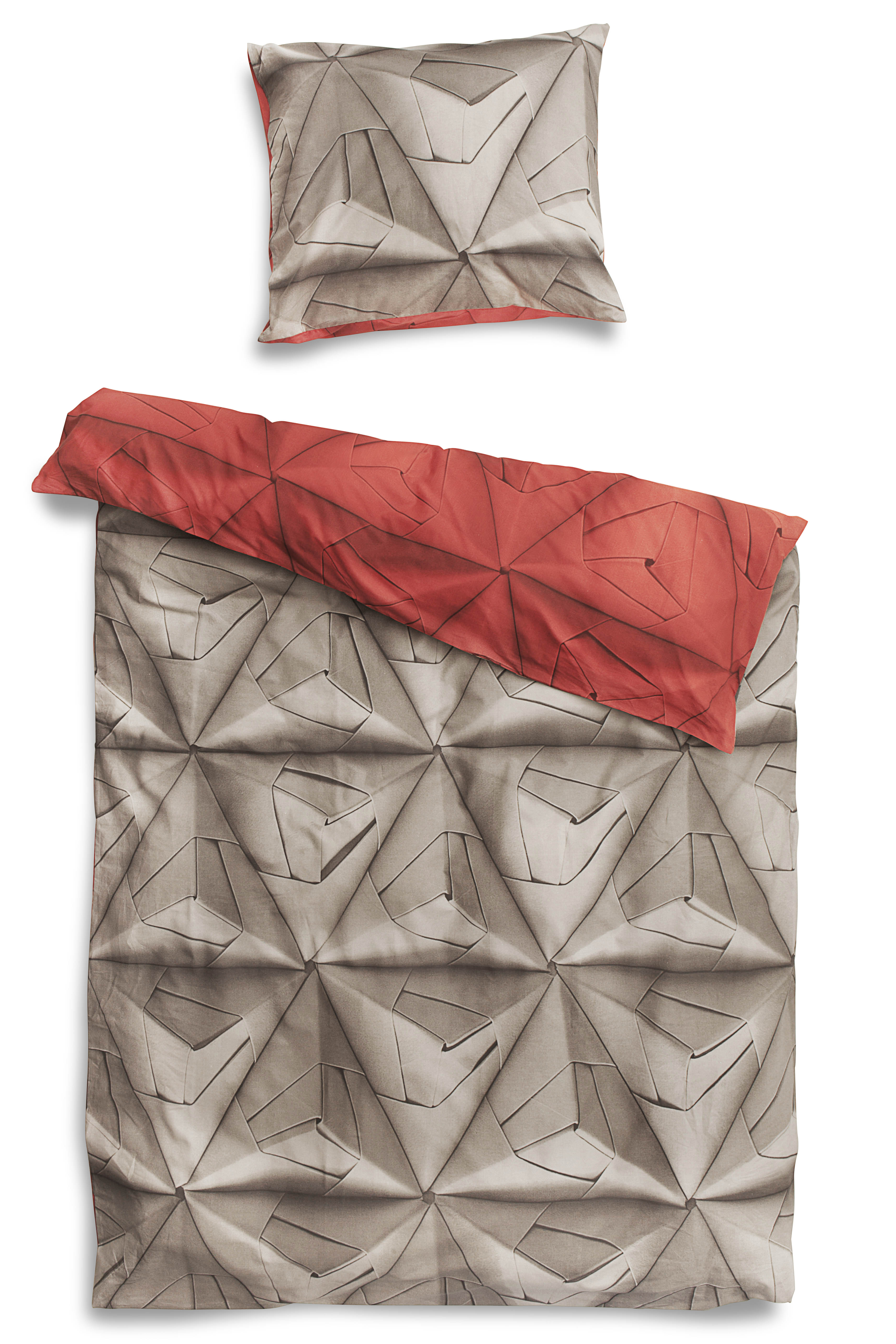 Комплект постельного белья Оригами красный 150х200