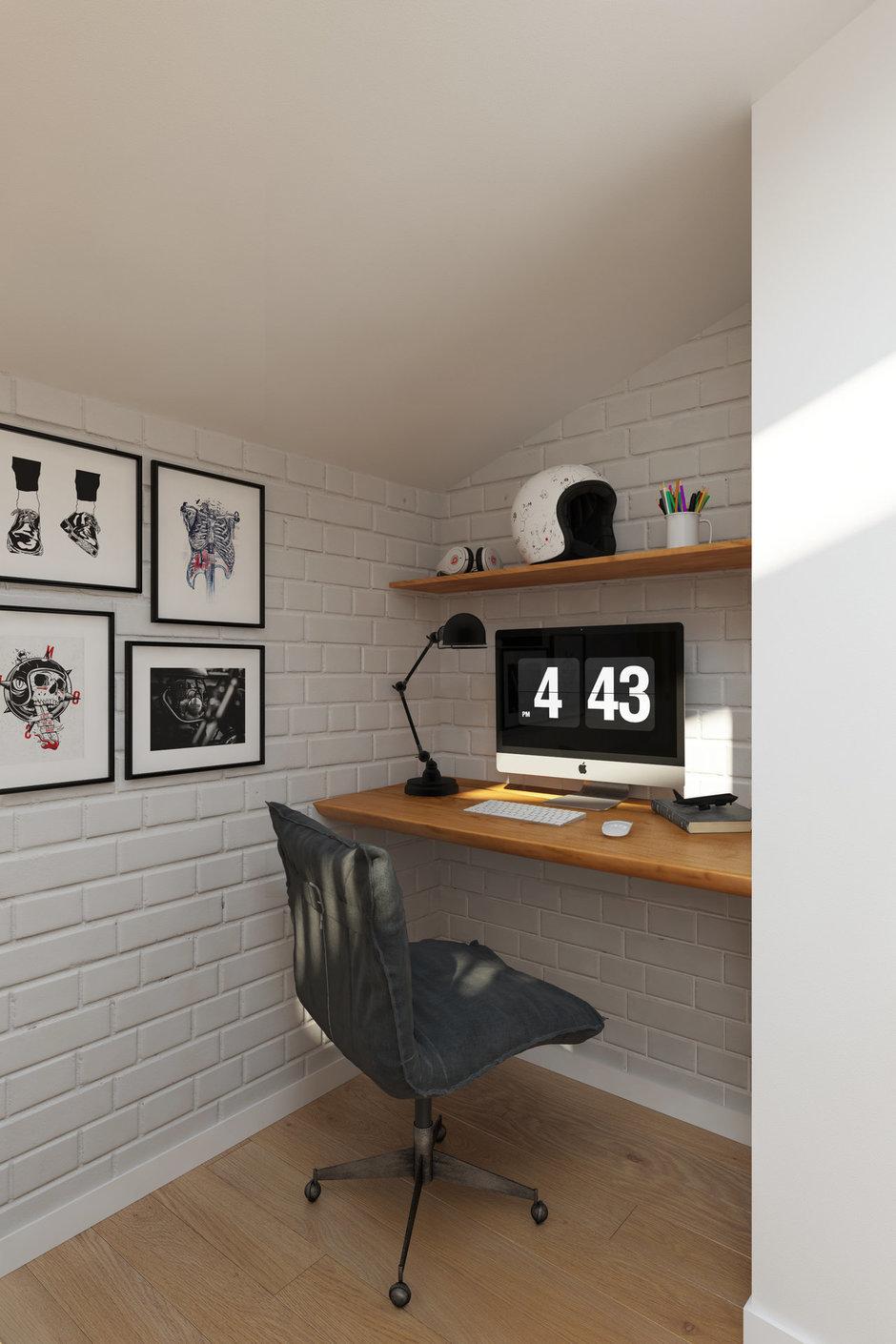 Фотография: Кабинет в стиле Скандинавский, Квартира, Проект недели, Химки, Geometrium, ЖК «Город Набережных» – фото на InMyRoom.ru