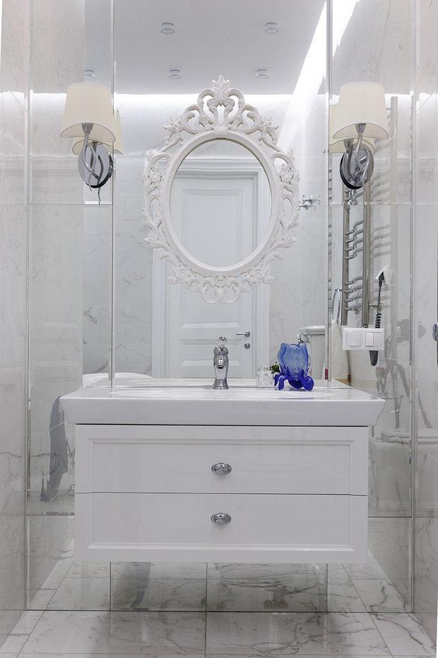 Фотография: Ванная в стиле Классический, Эклектика, Квартира, Проект недели, Санкт-Петербург, 2 комнаты, 60-90 метров, Инна Азорская – фото на INMYROOM