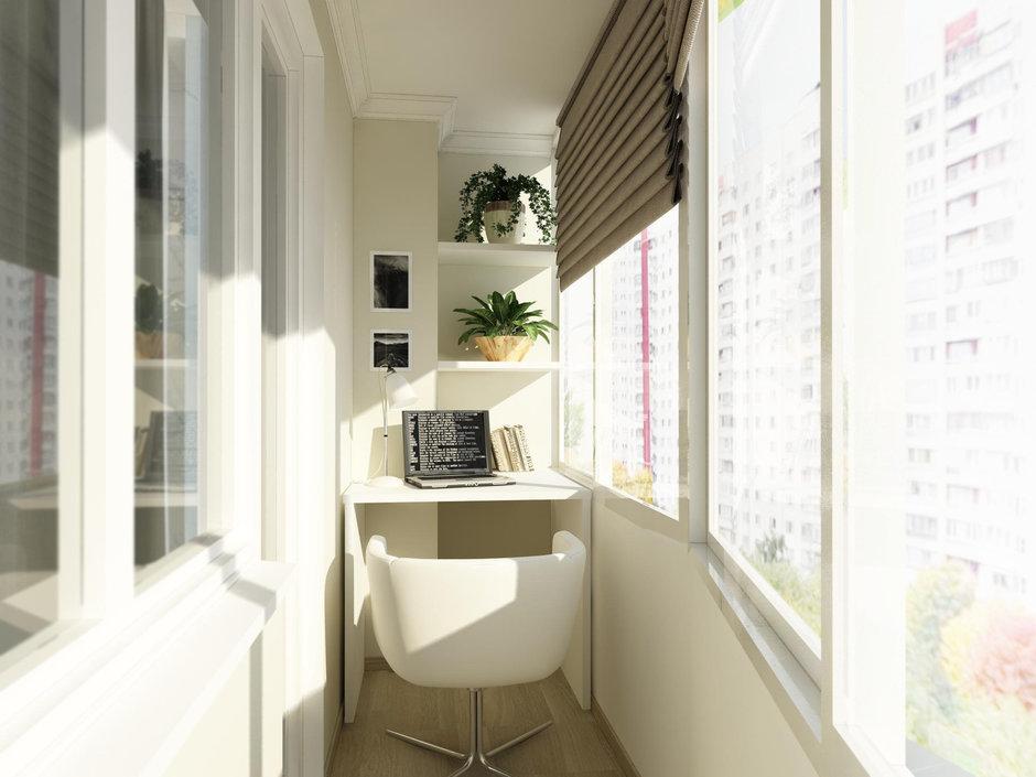Фотография: Балкон, Терраса в стиле Современный, Малогабаритная квартира, Квартира, Дома и квартиры, Проект недели, Москва – фото на InMyRoom.ru