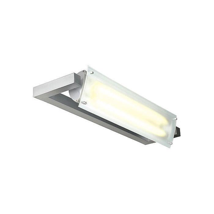 Светильник накладной c Э-ПРА SLV Nepro серебристый / стекло матовое
