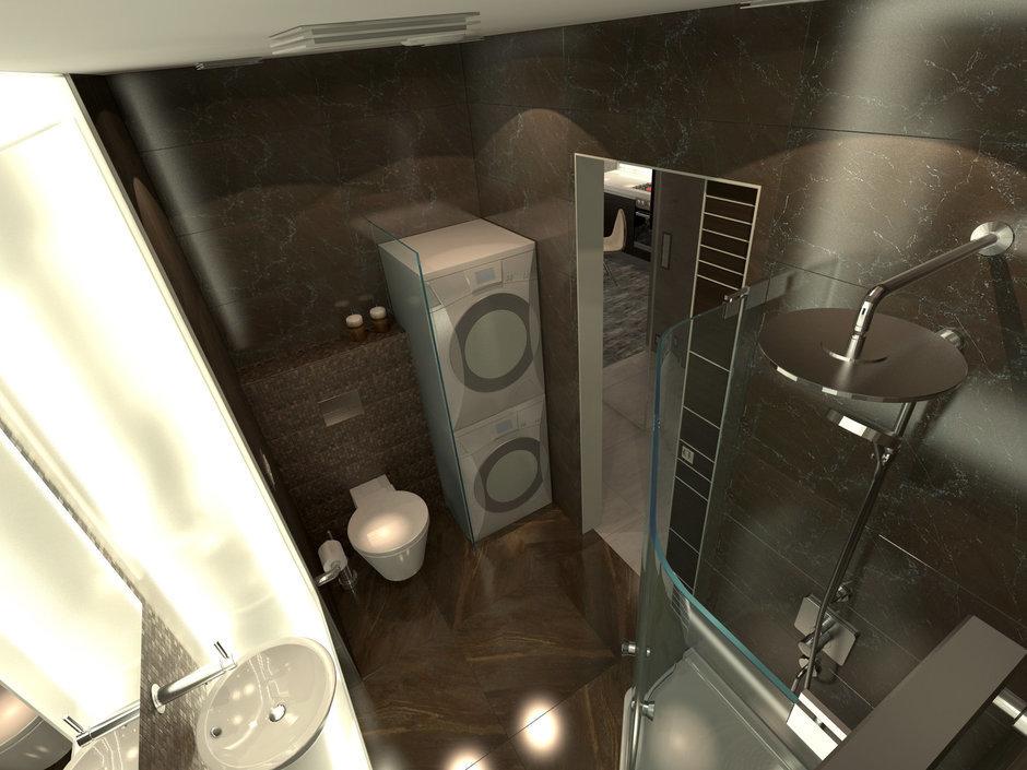 Фотография: Ванная в стиле Современный, Малогабаритная квартира, Квартира, Дома и квартиры – фото на InMyRoom.ru