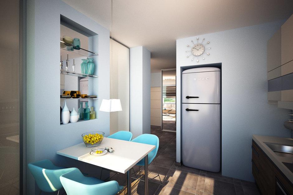Фотография: Кухня и столовая в стиле Современный, Квартира, Дома и квартиры, Проект недели – фото на InMyRoom.ru