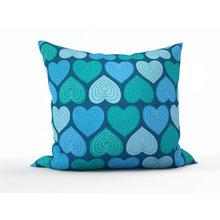 Диванная подушка: Мятные сердечки