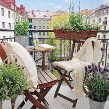 Фотография: Балкон, Терраса в стиле Кантри, Современный, Интерьер комнат – фото на InMyRoom.ru