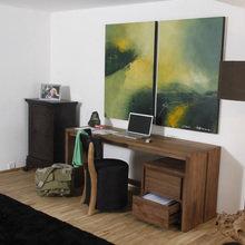 Фотография: Офис в стиле Современный, Детская, Интерьер комнат, Шкаф, Шебби-шик, Стеллаж, Стрит-арт – фото на InMyRoom.ru